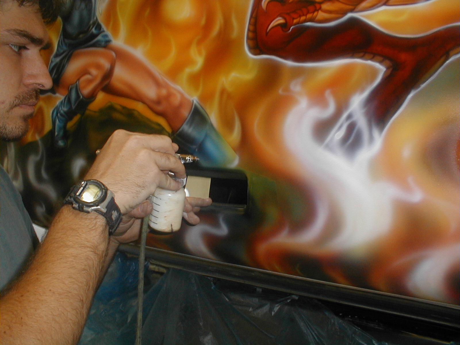 Warrior Woman and Dragon Airbrush Tutorial with Rich Markham