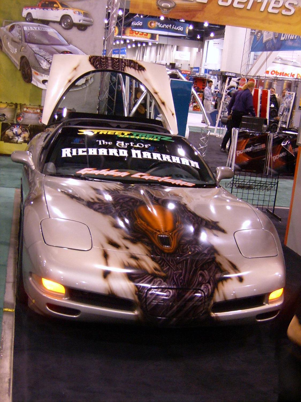 Street Trenz Corvette Airbrush Tutorial with Rich Markham