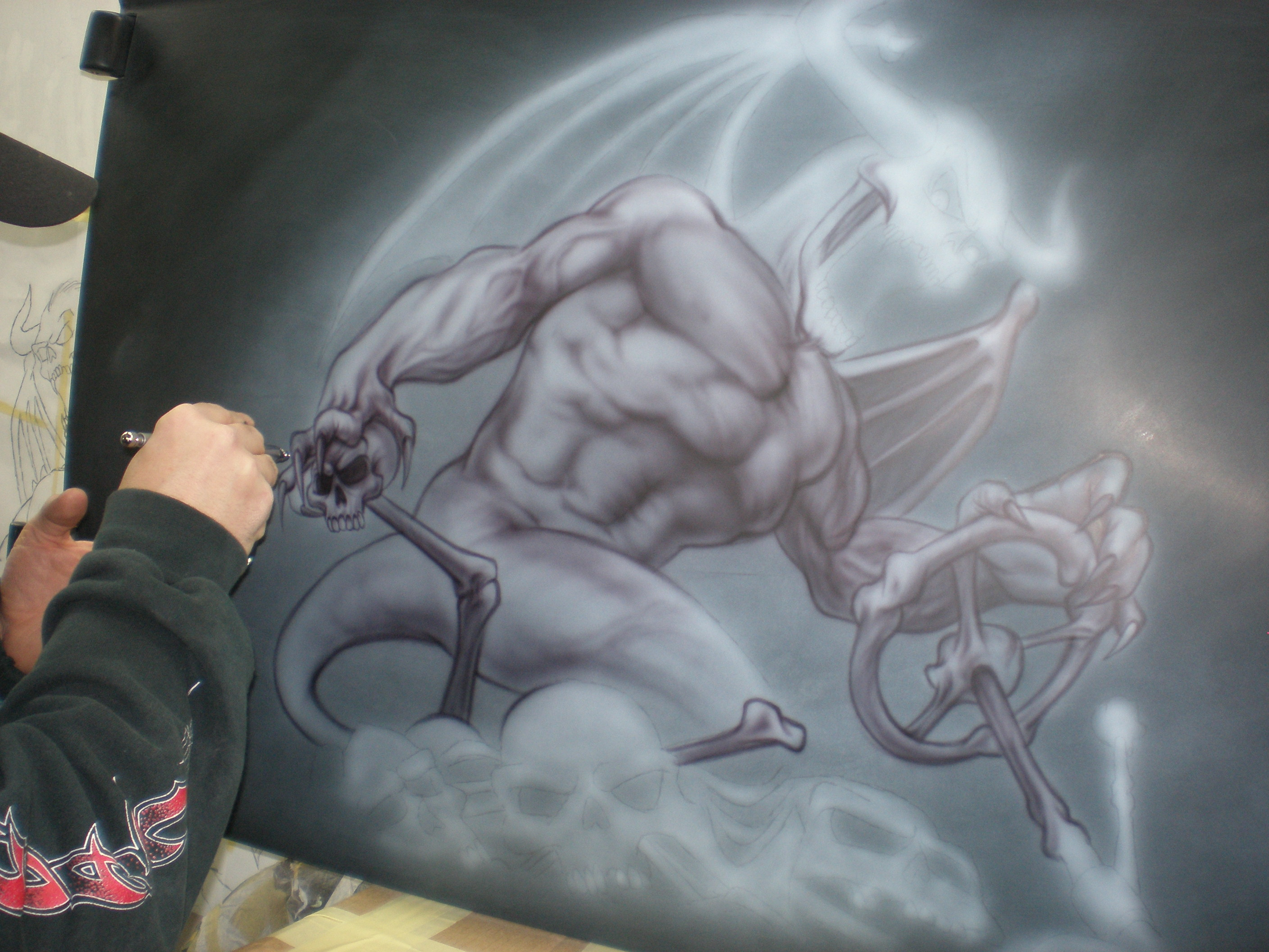 Devil's Ride Airbrush Tutorial by Richard Markham