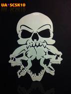 NEW Screamer Skull Airbrush Stencil #10