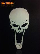 Screamer Skull Airbrush Stencil #4