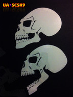 Screamer Skull Airbrush Stencil #9