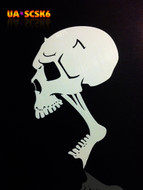 Screamer Skull Airbrush Stencil #6