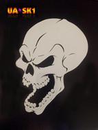 Skull Airbrush Stencil 1