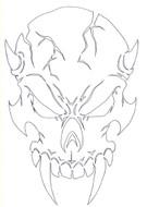 Demon Skull 1 Airbrush Stencil