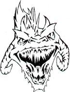 Dragon Airbrush Stencil 1