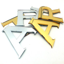 Silver & Gold Mirrored Letters