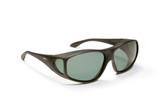 Haven Designer Fitover Sunglasses Rainier in Black & Polarized Grey Lens (LARGE)