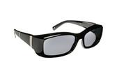 Haven Designer Fitover Sunglasses Freesia in Black Bars & Polarized Grey Lens (MEDIUM)
