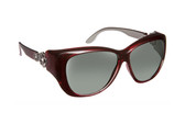 Haven Designer Fitover Sunglasses Manhattan in Red & Polarized Grey Lens (MEDIUM/LARGE)