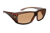 Haven Designer Fitover Sunglasses Breckenridge in Tortoise & Polarized Amber Lens (MEDIUM/LARGE)