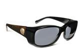 Haven Designer Fitover Sunglasses Dahlia in Black Leopard & Polarized Grey Lens (Small)