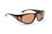 Haven Designer Fitover Sunglasses Everest in Tortoise & Polarized Amber Lens (XL)