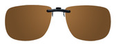 Montana Eyewear Clip-On Sunglasses C12B in Polarized Amber 54mm