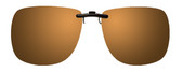 Montana Eyewear Clip-On Sunglasses C13B in Polarized Gold Mirror/Amber 62mm