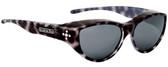 Jonathan Paul® Fitovers Eyewear Medium Chic Kitty in Black Cheetah & Gray CK001S