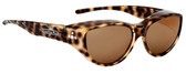 Jonathan Paul® Fitovers Eyewear Medium Chic Kitty in Brown Cheetah & Brown CK002S