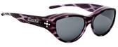 Jonathan Paul® Fitovers Eyewear Medium Chic Kitty in Purple Cheetah & Gray CK004S