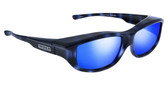 Jonathan Paul® Fitovers Eyewear Large Torana in Blue-Demi & Blue Mirror TR001BM