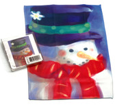 Holiday Christmas Theme Cleaning Cloth Snowman