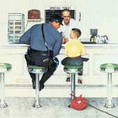 """Norman Rockwell Famous Artwork Cleaning Cloth """"Runaway"""""""