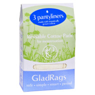 Gladrags Pantyliner Organic Undyed Cotton - 3 Pack
