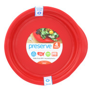 Preserve Everyday Plates - Pepper Red - 4 Pack - 9.5 in