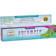 Auromere Herbal Toothpaste Mint Free - 4 oz - Case of 12