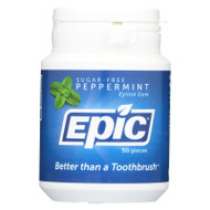 Epic Dental Peppermint Gum - Xylitol Sweetened - 50 Count