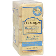 A La Maison Bar Soap Unscented Value Pack - 3.5 Oz Each / Pack Of 4