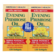 American Health Royal Brittany Evening Primrose Oil Twin Pack - 1300 Mg - 120+120 Softgels