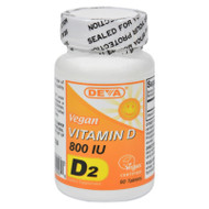 Deva Vegan Vitamin D - 800 IU - 90 Tablets
