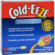 Cold-EEZE Cold Remedy Lozenges Honey Lemon - 18 Lozenges