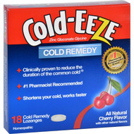 Cold-eeze Cold Remedy - All Natural Cherry Flavor - 18 Lozenges