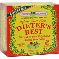 Breezy Morning Teas Dieter's Best Super Diet Tea Herbal Tea Caffeine Free - 20 Bags