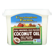 Carrington Farms Organic Coconut Oil - 12 fl oz - Case of 6