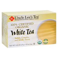 Uncle Lee's Tea 100% Certified Organic White Tea - Case Of 6 - 18 Bag