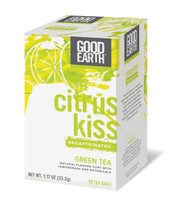 Good Earth Green Tea Decaffeinated Citrus Kiss - 18 Tea Bags - Case of 6