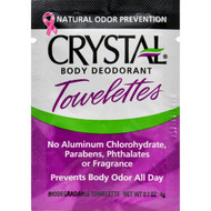 Crystal Deodorant Solo Towlette Display Case - Case of 48 - .1 oz