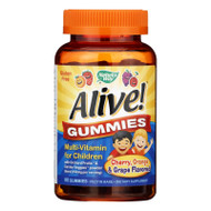 Nature's Way Alive! Gummies Multi-Vitamin for Children Natural Cherry, Grape and Orange - 90 Gummies