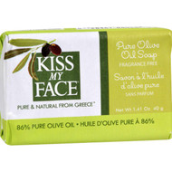 Kiss My Face Bar Soap - Pure Olive Oil - Travel Size - Pack Of 12 - 1.41 Oz