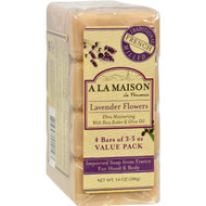 A La Maison Bar Soap - Lavender Flower - Value 4 Pack