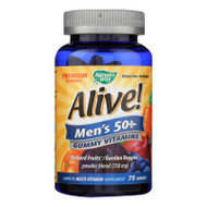 Nature's Way Alive! - Men's 50+ Gummy Multi-Vitamins - 75 Chewables