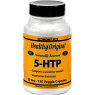 Healthy Origins Natural 5-HTP - 50 mg - 120 Capsules