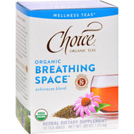 Choice Organic Teas - Organic Breathing Space Tea - 16 Bags - Case of 6