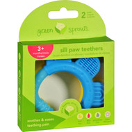 Green Sprouts Teether - Sili Paw - Aqua And Yellow - 2 Pack