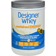 Designer Whey Protein Powder - Sustained Energy - Vanilla Bean - 1.5 Lb