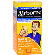 Airborne Chewable Tablets With Vitamin C - Citrus - 32 Tablets