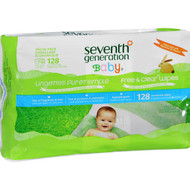 Seventh Generation Baby Wipes - Free And Clear - Refill - 128 Count