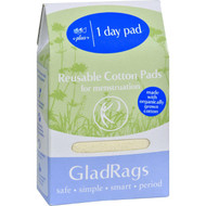 Gladrags Day Pad - Plus - Cotton - Organic - Natural - 1 Count